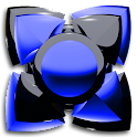Next Launcher Theme black blue icon