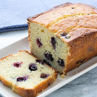Lemon Blueberry Ricotta Pound Cake.