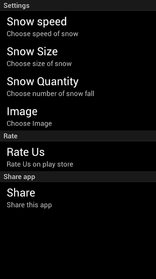 Snow Fall Live Wallpaper - screenshot