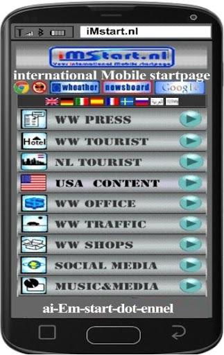 iMstart.nl Mobile startpage