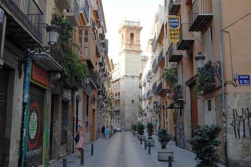 Valencia-Spain-street-scene -  A street scene in Valencia, Spain.