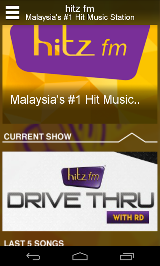 hitz.fm- screenshot