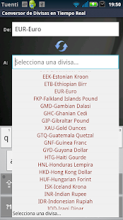 Real Time Currency Converter - screenshot thumbnail