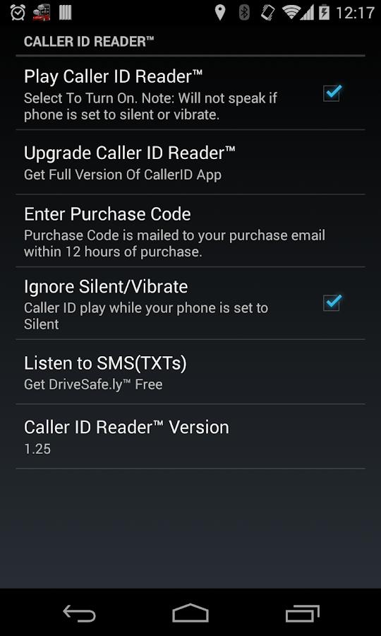 Caller ID Reader Pro - Speaks- screenshot