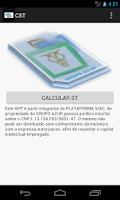 Screenshot of CST (CÁLCULO SUBS. TRIBUTÁRIA)