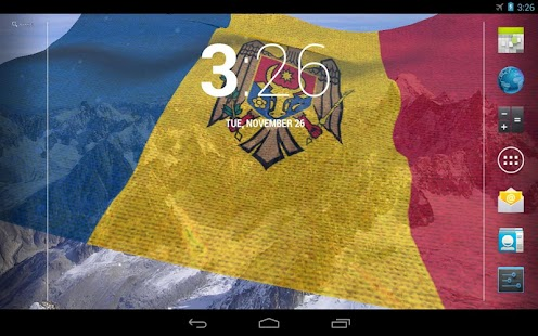 3D Moldova Flag LWP- screenshot thumbnail