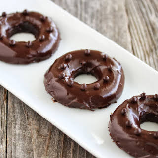 1 Minute Microwave Chocolate Mochi Donuts.