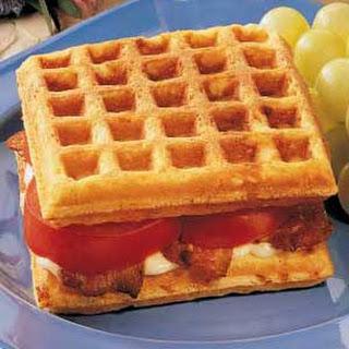 Cornmeal Waffle Sandwiches