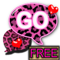GO SMS PRO Pink Leopard theme icon