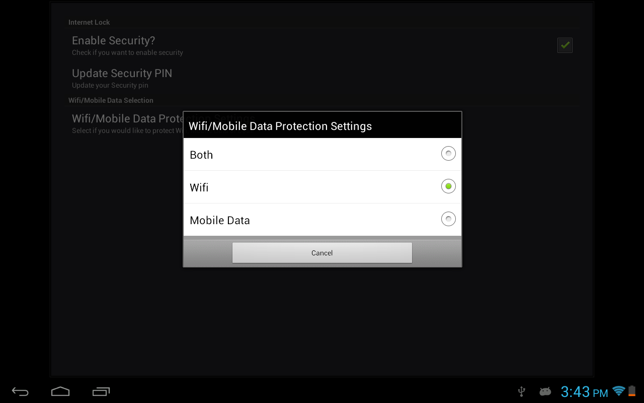 Internet(Data/Wifi) Lock Lite - screenshot