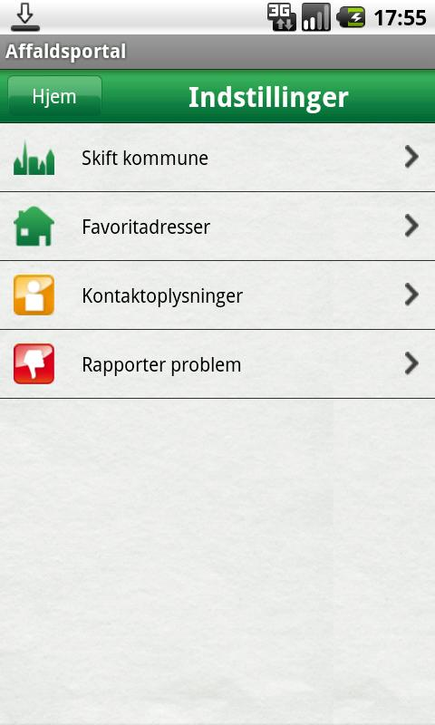 Affaldsportal - screenshot