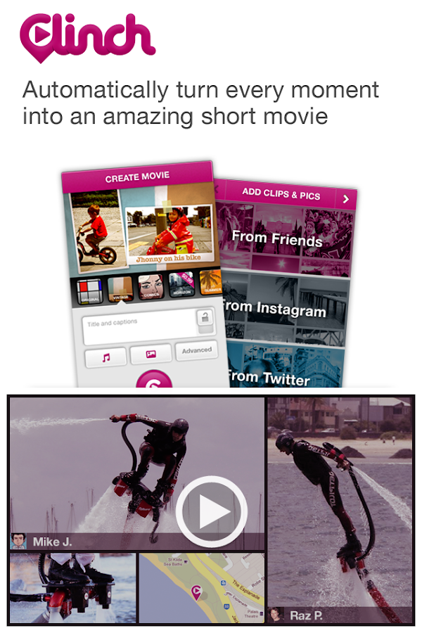 Clinch -Automatic Video Editor - screenshot