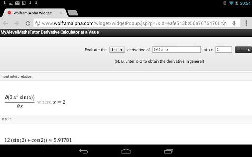 Differentiation Calculator +