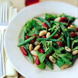 Three-Bean Salad with Honey-Mustard Vinaigrette.