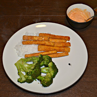 Broccoli Steaks with Tofu Fries