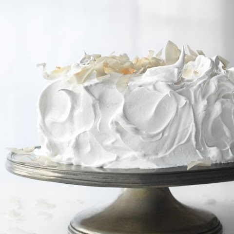 White Cake With Lemon-Lime Curd Filling And Whipped Cream ...