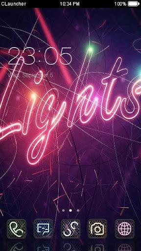 Dazzle Lights C Launcher Theme