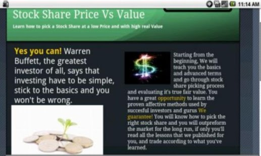 Stock Share Value Vs. Price