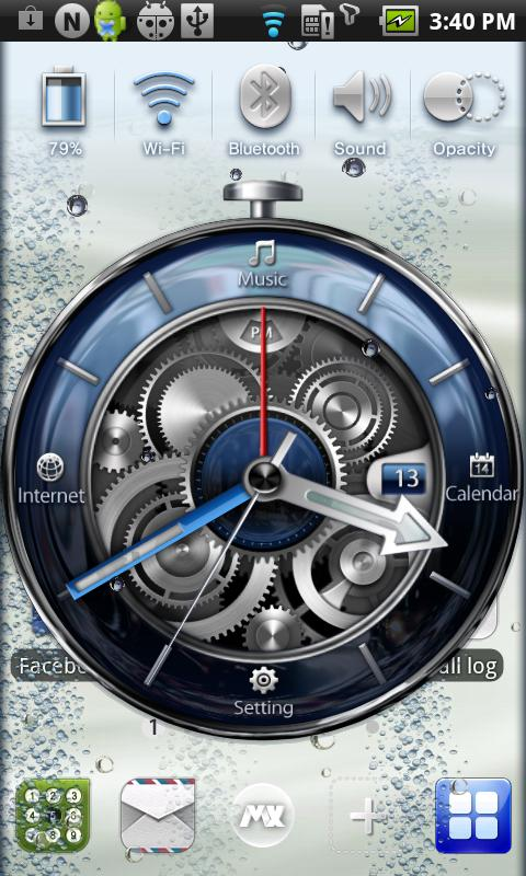 MXHome Theme BlueWatch - screenshot