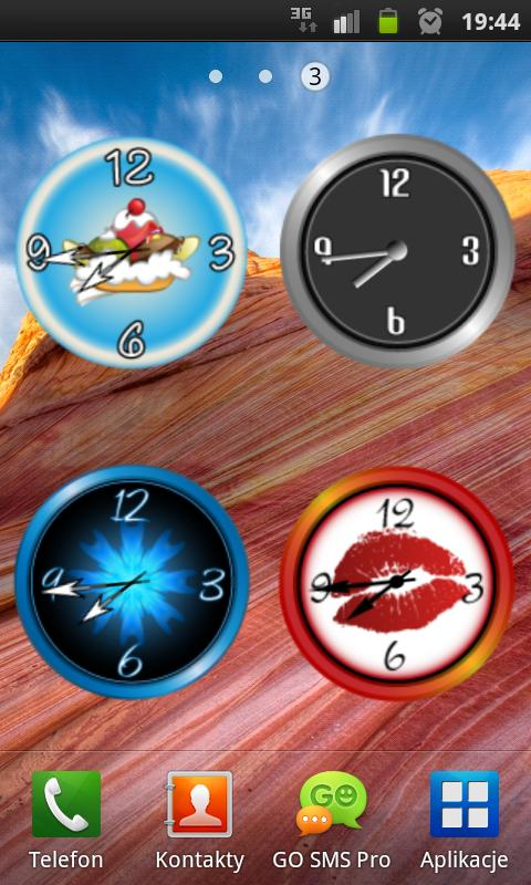 Blue Ice Clock - screenshot