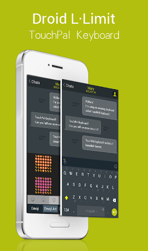 TouchPal Droid L Lime Theme