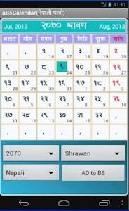 BS Calendar / Patro / पात्रो 5.6.7
