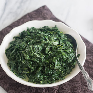 Skinny Creamed Spinach.