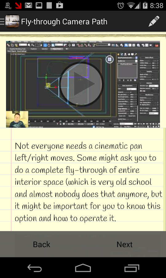 Fly-through Animation Workshop- screenshot