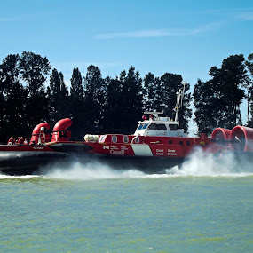 CCGS Soyay by Art Straw - Transportation Other ( water, marine, coast guard, craft, rescue, boat, hovercraft, river )
