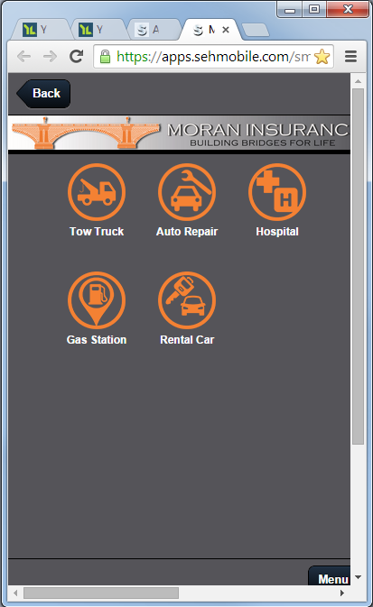 Moran Insurance- screenshot