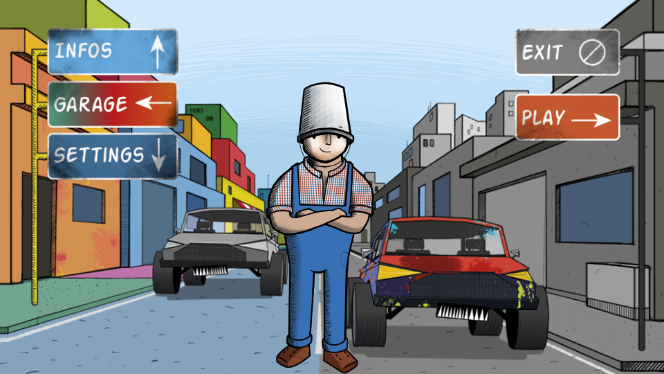 BucketMan - Coloring Your City- screenshot
