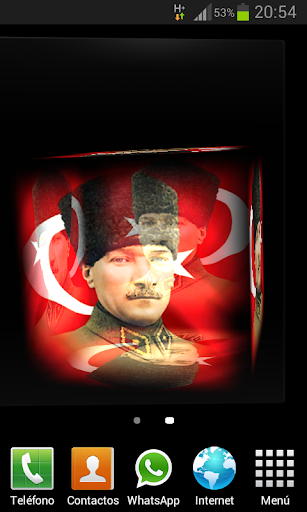 Mustafa Kemal Atatürk 3D LWP
