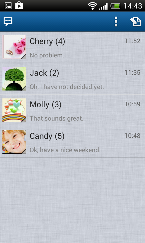 Handcent SMS - screenshot