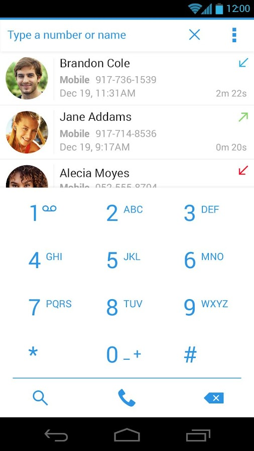 Dialer + - screenshot