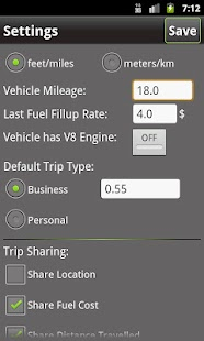 Extra Mile -Mileage Tracker- screenshot thumbnail