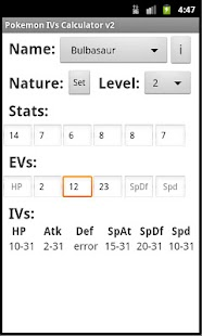 Pokemon IVs Calculator v2 - screenshot thumbnail
