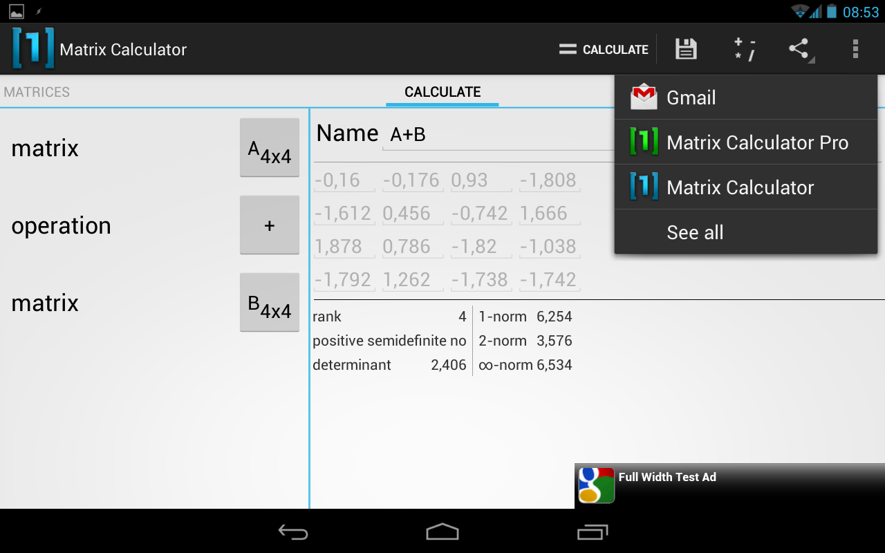 Matrix Calculator Android Apps On Google Play