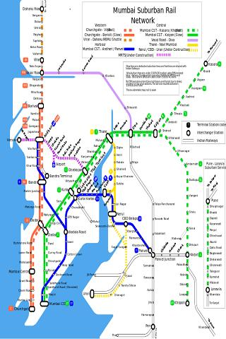 Mumbai Local Train Map- screenshot