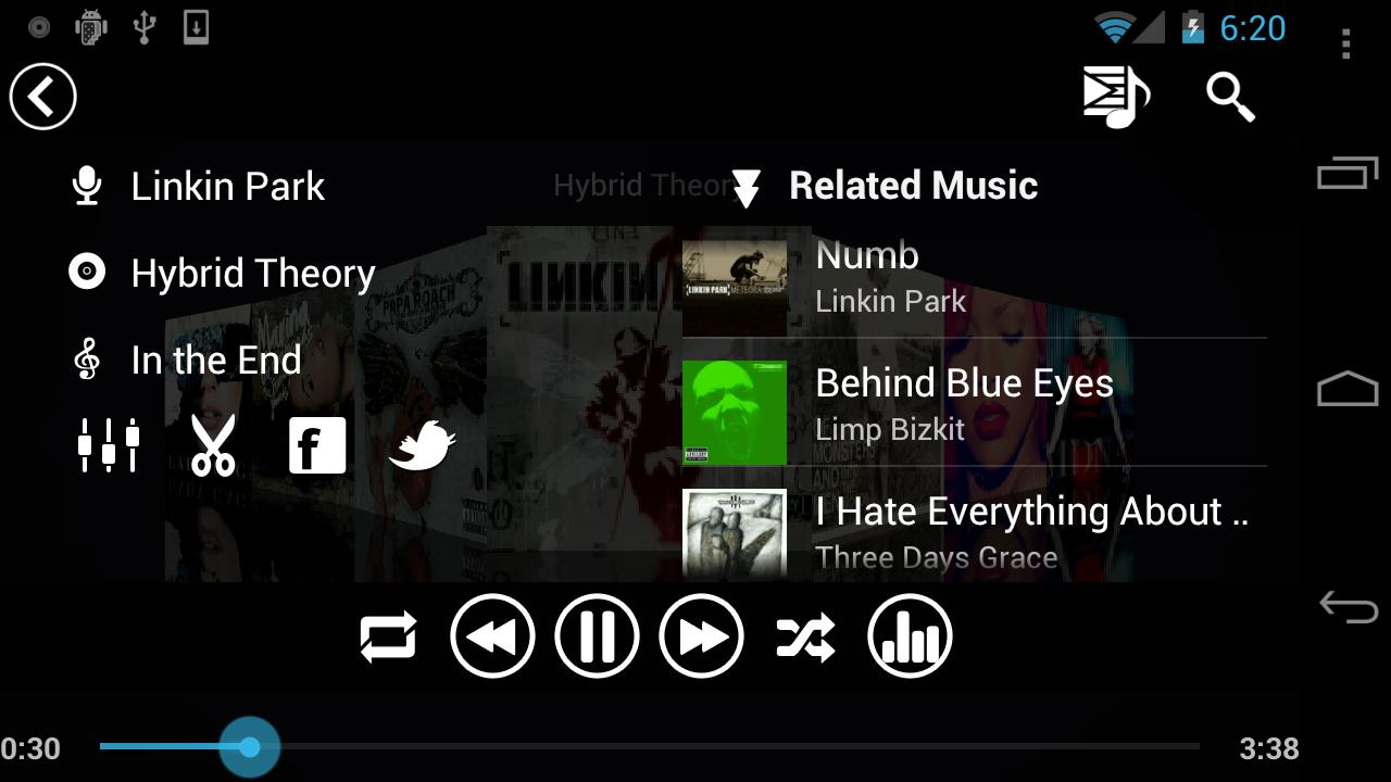 Fusion Music Player- screenshot