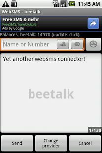 WebSMS: Beetalk Connector - screenshot thumbnail