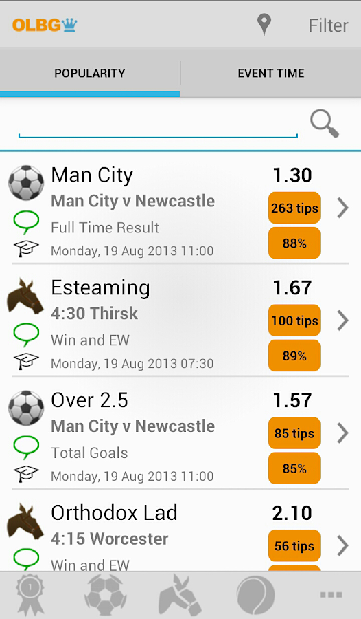 OLBG Sports Betting Tips - screenshot