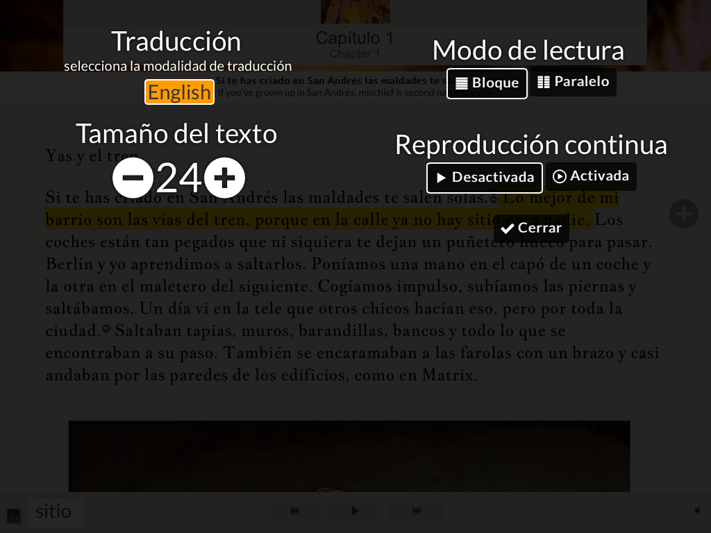 Read in Spanish: Yas y el tren- screenshot
