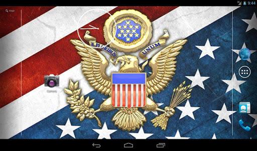 3D USA Coat of Arms & Flag LWP  screenshots 4