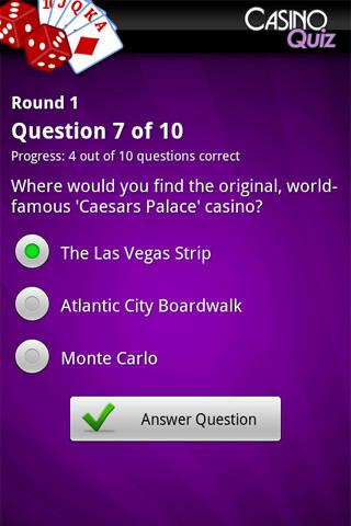 Ultimate Casino Quiz - screenshot