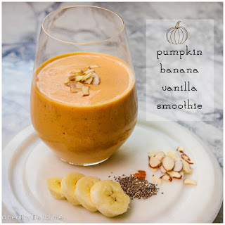 Pumpkin Banana Vanilla Smoothie.