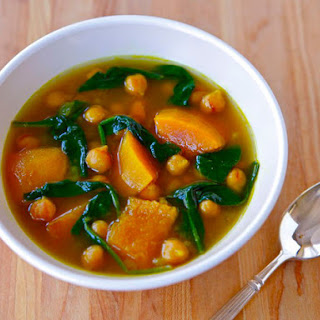 Vegan Butternut Squash and Chickpea Soup.