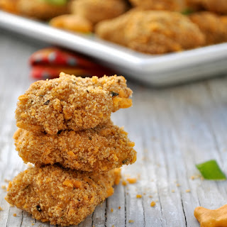 Goldfish Cracker-Crusted Chicken Nuggets with Honey Mustard Dipping Sauce