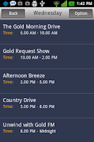 Screenshot of Gold FM Mobile