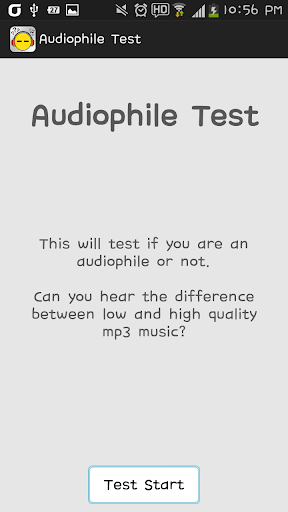 Audiophile Test Hearing Test