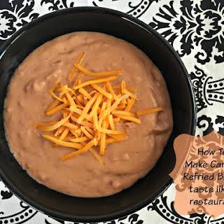 Make Canned Refried Beans Taste like a Restaurant's.